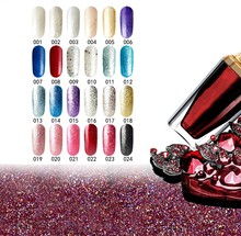 Professional Salon High Quality Glitter Color Nail Gel Polish