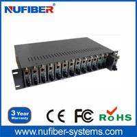 High quality good price rack mount chassis 2U height 14 slots 19 inch rack mount chassis for fiber optic media converter