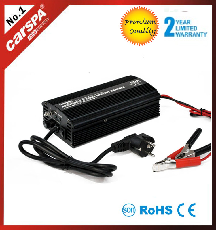 sun car battery charger 12 volt 20a