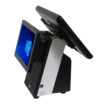 Fashion Windows Desktop Touch Screen POS Terminal Dual Screen EPOS Billing Machine All In One POS System