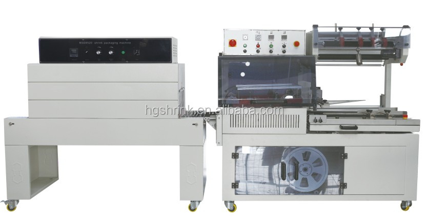 automatic L bar sealer shrink wrapping machine for dishes
