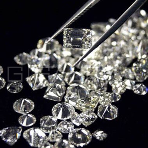 Synthetic white raw diamonds hpht sic wafer rough diamond