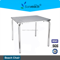 Aluminum Square High Outdoor Bar Table