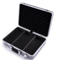 Top grade Aluminum alloy tools precision instrument box Multi-functional model Shockproof antiknock hand Bin equipment tool box