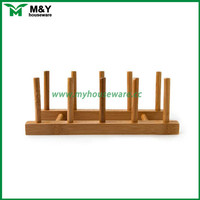 bamboo portable wooden dish drainer
