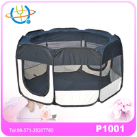 Cute folding fabric pet playpen dog house kennel