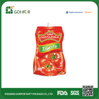 Tomato Ketchup Bag with 20 to 5,000mL Packing Volume, Made of Food Grade and Recyclable Materials