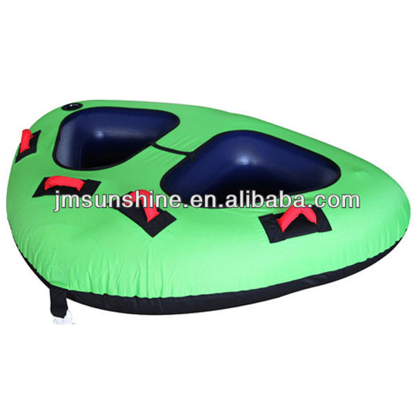 Kids inflatable double snow ski sled with cover