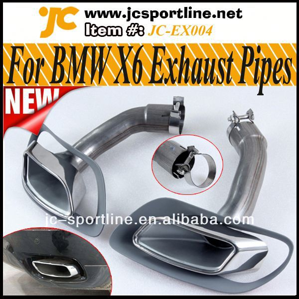 High Quality 304 Steel E71 X6 Series <strong>Muffler</strong> Dual Tips Auto Car Retrofit Tail Pipes Chrome For BMW X6 E71 30d 35d 40d