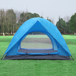 3 to 4 Person Double Door Double Layer Waterproof Outdoor PU Coated Dome Tent Canopy Traveling with a Free Carry Bag(HT6015)