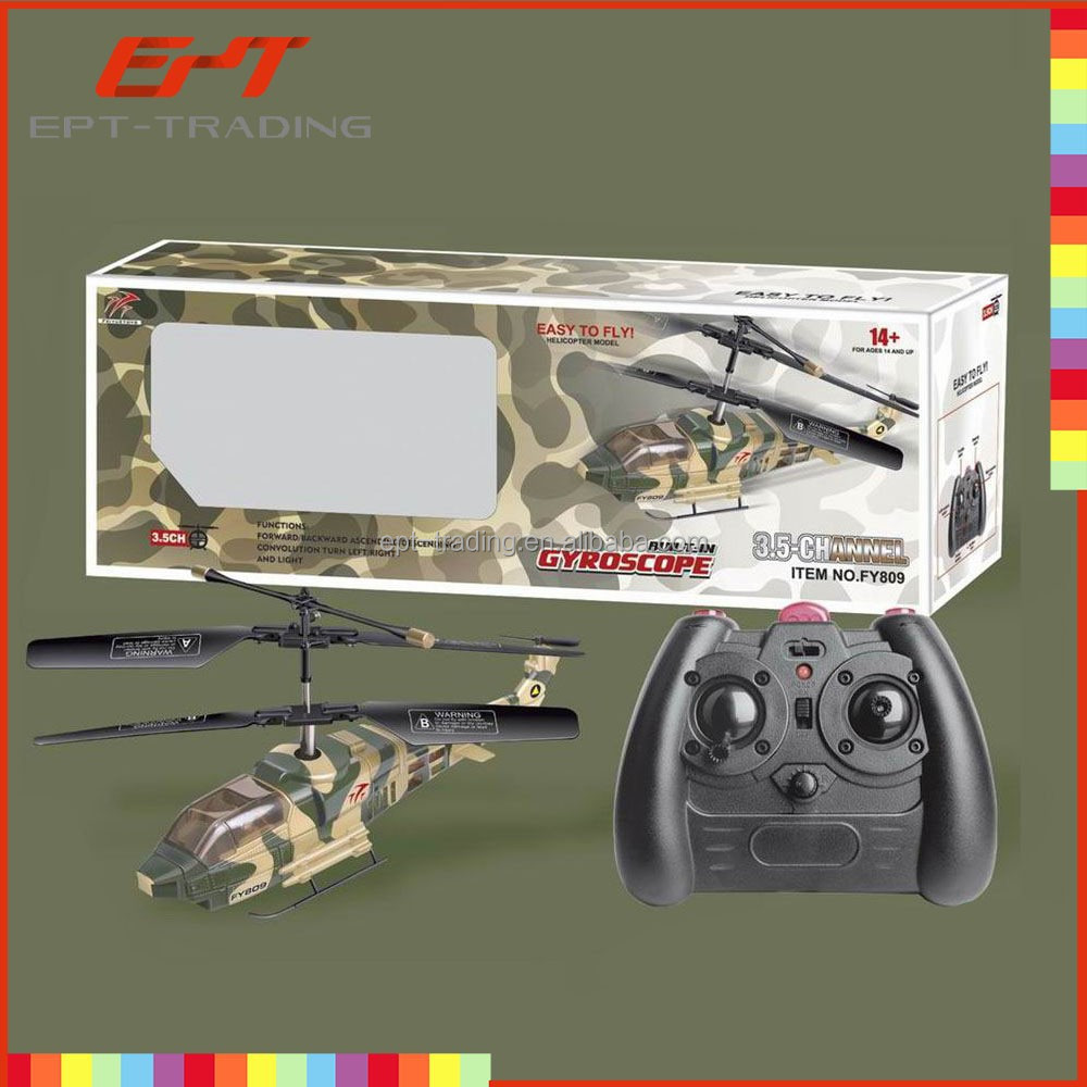 Remote control toy 3ch military rc helicopter with gyro