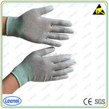 LN-8003F ESD nylon PU top fit gloves for electronic industry