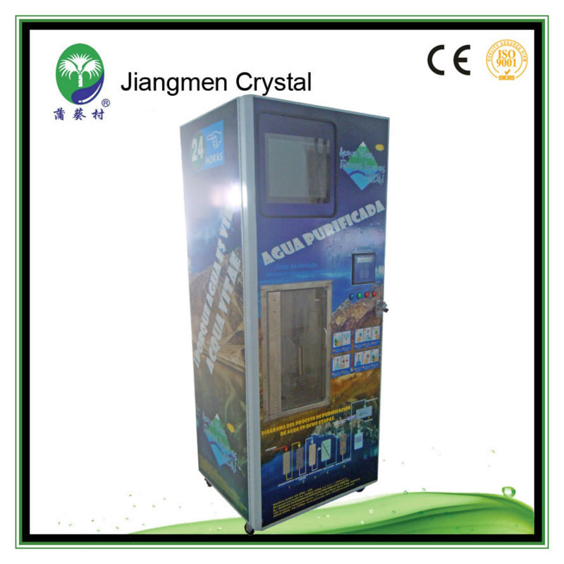coin operated water vending machine with washing bottle fuction