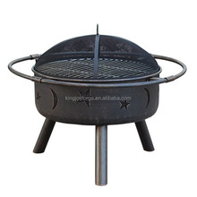 USA style outdoor steel fire pit/round Firepit / patio fireplace with moon and star pattern