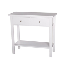 Chinese White Entrance Console Table With Drawers