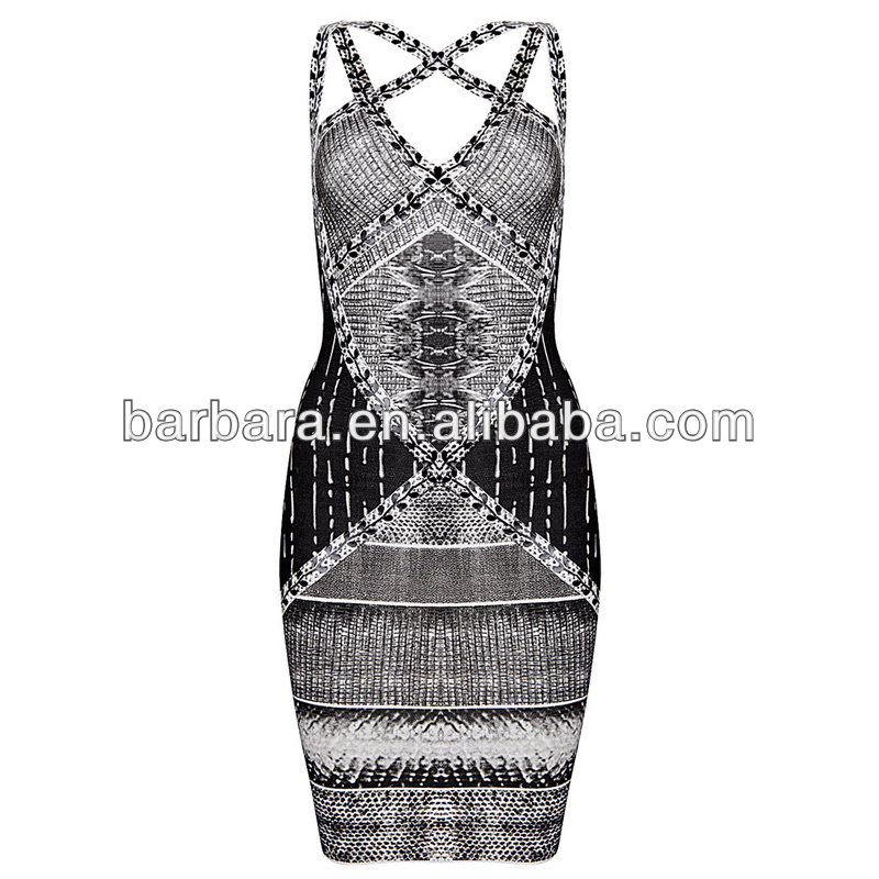 2014 New arrival Hot selling Serpentine printed halter bandage dress free shipping