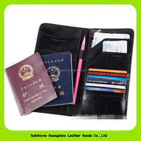 16228 Custom Brand Travel Journey Leather Passport cover Purse Organizer Ticket Passport Credit Card ID Document