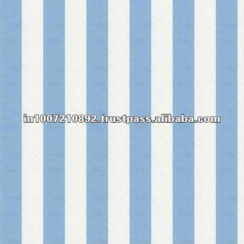 Blue and White Stripe Fabric...