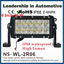 6 Inch 36W Combo Beam Off-road Car SUV double Row Offroad LED Light Bar Factory Direct LightBar 4x4 accessories