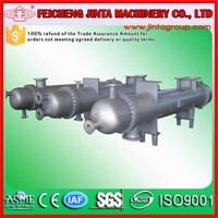 preheater copper tube coil water cooled condenser, preheater