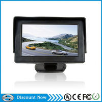 Top quality car reverse lcd monitor 4.3 inch car tft lcd monitor with sun shade