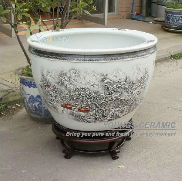 Retail big completely weatherproof porcelain ceramic fish pot and retail big completely weatherproof porcelain ceramic fish pot and garden planter pot buy planter potgarden planterceramic planter product on alibaba workwithnaturefo