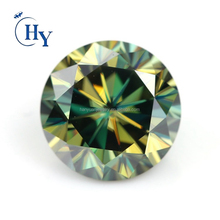 Wuzhou Round Brilliant cut synthetic light green moissanite diamond for sale