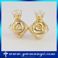 Hot selling fancy fashion white zircon stone earrings