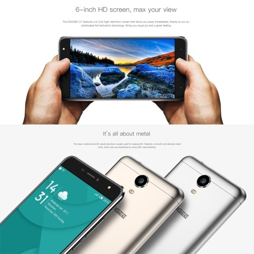 ONLINE SHOPPING INDIA Chinese android phones DOOGEE X7 16GB celulares smartphones 4g cell phones mobile phone with CE, RoHS, FCC