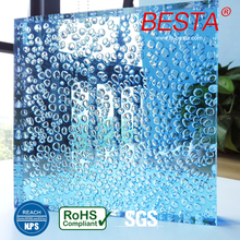 30-50mm Thicknes Standard Glass Sheet Sizes Decorative Acrylic Water Bubble Wall Panel