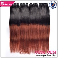 Factory outlet price with high quality ombre human hair weave