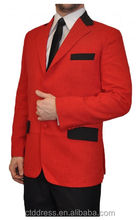"specially designed, to match mens red ""jersey boy"" style custom suit"