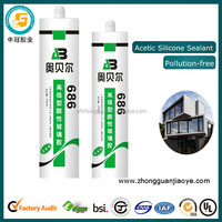 Glass fixing glue acetic silicone sealant for kitchen washbasin