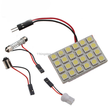 high quality 12v auto car led dome panel light 5050 24smd