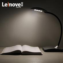 flick-free color change led desk lamp touch led table light reading light for book