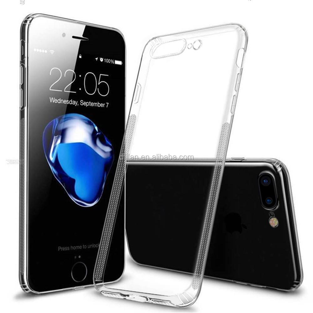 DFIFAN anti -slip bar mark slim clear case for iphone 7 plus ,clear protective for apple iphone 7 plus transparent case