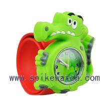 New year best gift silicone slap kids dinosaur watches