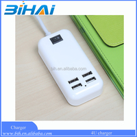 New Universal 4 USB Port Home Wall Travel Charger wall charger to usb adapter for Apple and Android Devices