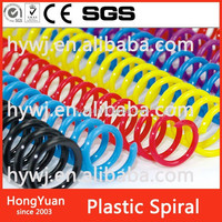 spiral binders and clear covers plastic book binding comb ring wire