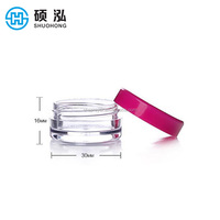 Square columnar 3ml 5ml 10ml PS plastic empty skin care cosmetic jar