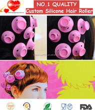 Silicone hair rollers for short hair Silicone spiral rollers Silicone rubber hair curlers