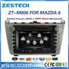 ZESTECH factory 8 inch double din car gps for MAZDA 6 2008-2012 car radio multimedia player with DVD +3G+BLUTOOTH +AM/FM