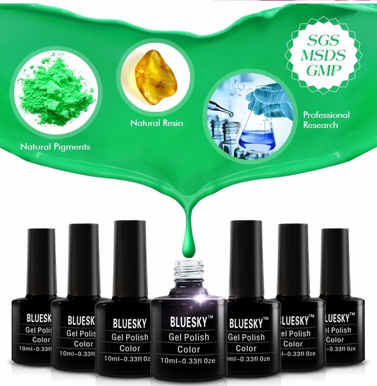 Bluesky Hot Colorful neno series Nail Polish UV Gel polish art nail beauty