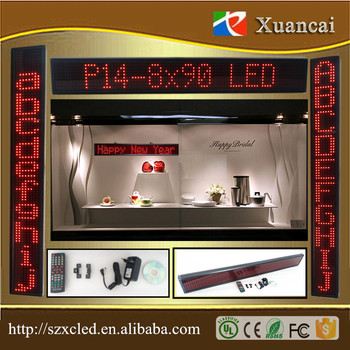 PH14-8x90 pixel Horizontal&Vertical inverted words16x130cm LED dislpay