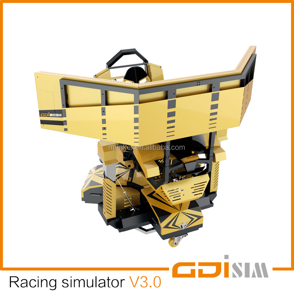 VR car driving simulator for amusement and professional training