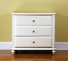 Home Furniture White Painted 3 Drawer Chest Of Drawers