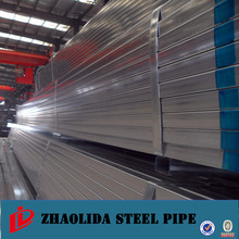 hollow section tube ! structure galvanized flow line pipe zinc coated galvanized square pipe/tube for fluid