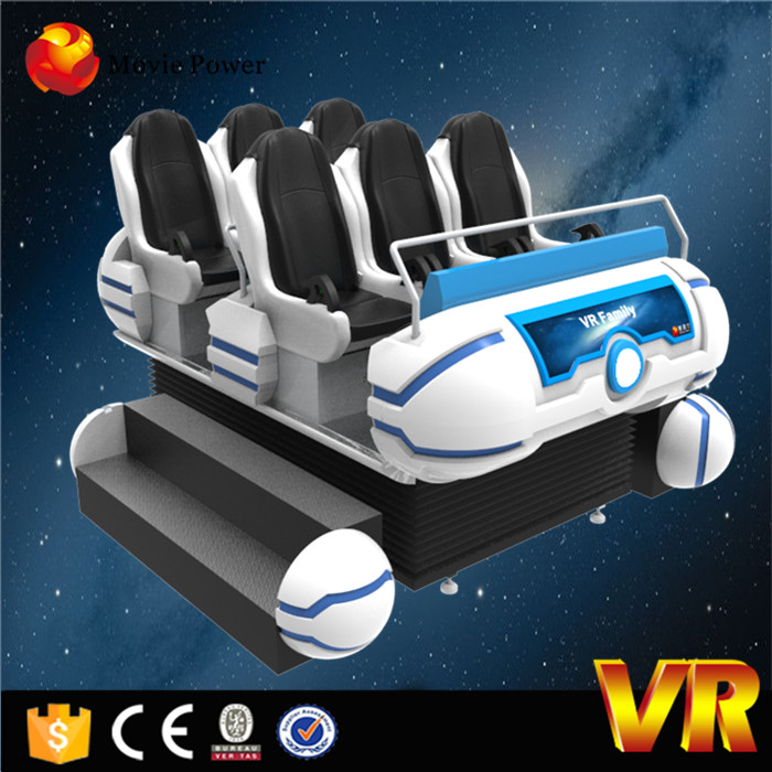 Exclusive movies and games 6 seats 9d vr Cinema electric platform 9d vr