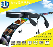 2015 new 98inch android video glasses virtual reality video glasses eyewear smart glasses mobile theatre