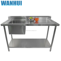 Restaurant Commercial Kitchenware Supplier Working Table kitchen stainless steel sink work table